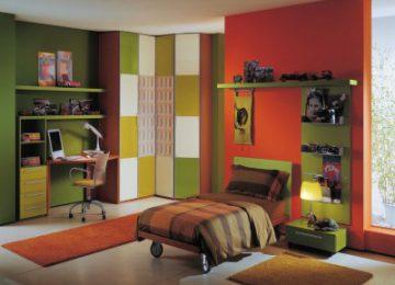 Trang trí phòng ngủ sang trọng với kệ và đèn sàn